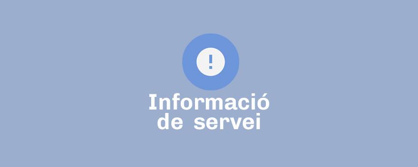 Info de servei: Incidents de talls de subministrament d'electricitat